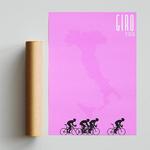 Giro D'Italia Pink Pantone Print Cycling