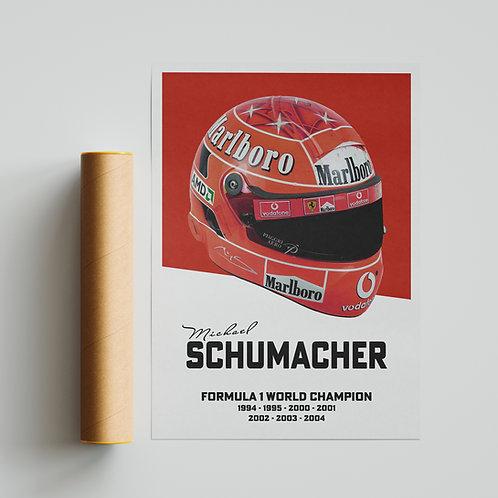 Michael Schumacher F1 Helmet Poster