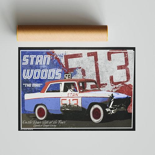 513 Stan Woods Banger Racing Poster Print