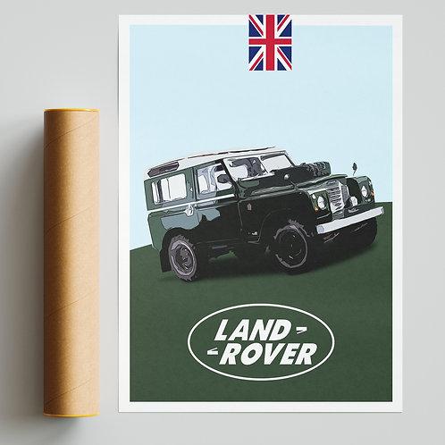 Land Rover Defender Poster Print