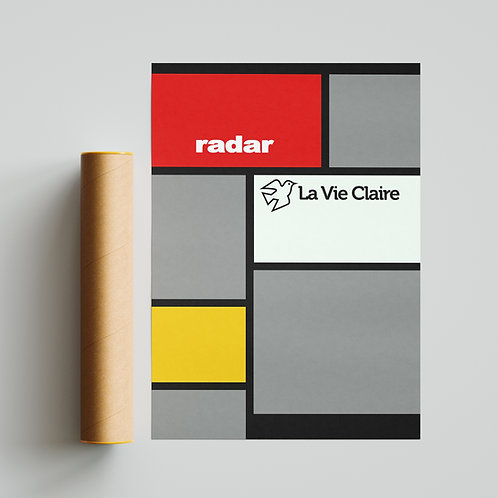 La Vie Claire Cycling Team Jersey Print