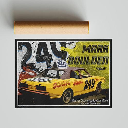"""249 Mark """"Polo"""" Boulden Banger Racing Poster"""