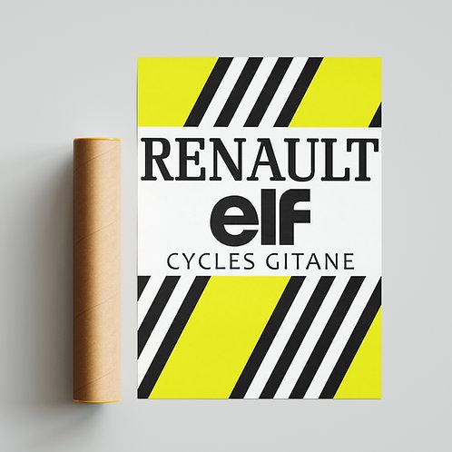 Renault Gitane Cycling Team Jersey Print