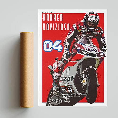Andrea Dovizioso Print MotoGP