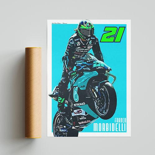 Franco Morbidelli Petronas Yamaha MotoGP Print
