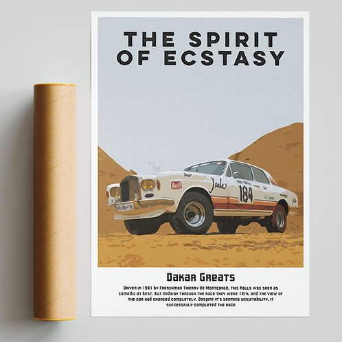 """The Spirit of Ecstasy"" - Custom 4x4 Rolls Royce Dakar Rally Print"