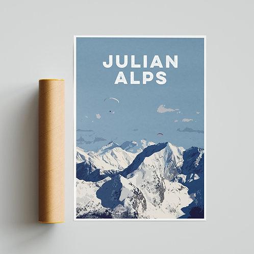 Julian Alps Slovenia Paragliding Site Print