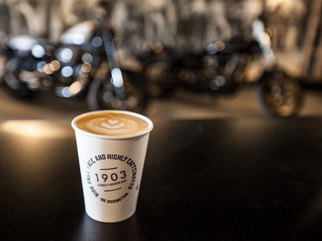1903 is cool AF (this Harley Davidson cafe is about to win every marketing award)