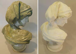 19th century Marble Bust of Pan