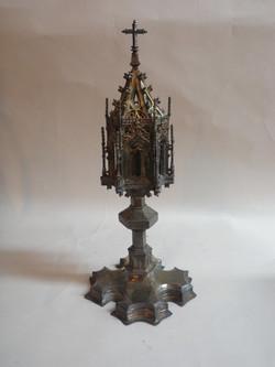 Medieval Spanish brass monstrance