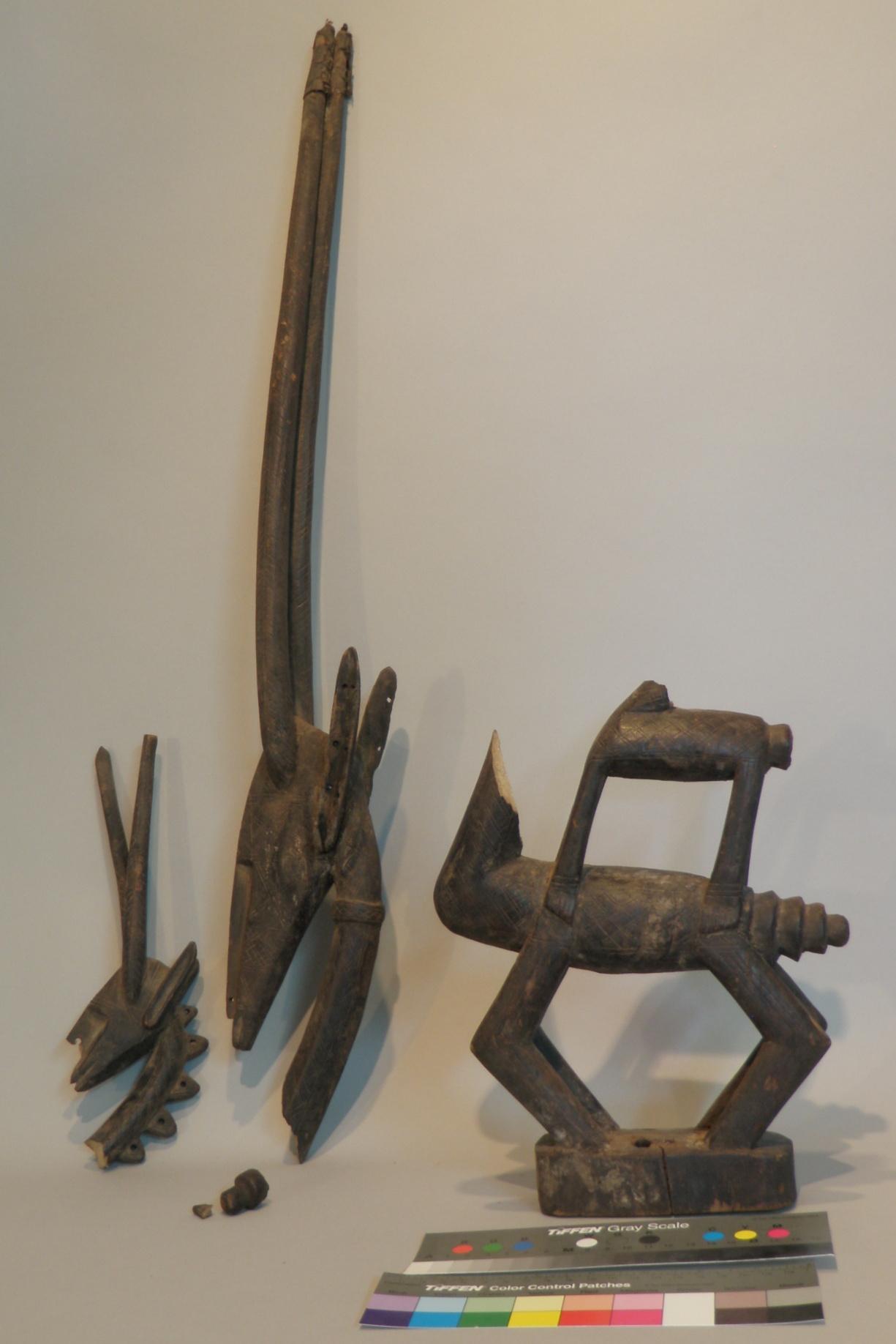 African Chi Wara antelope head piece