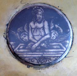 15th century Spanish paten (detail)