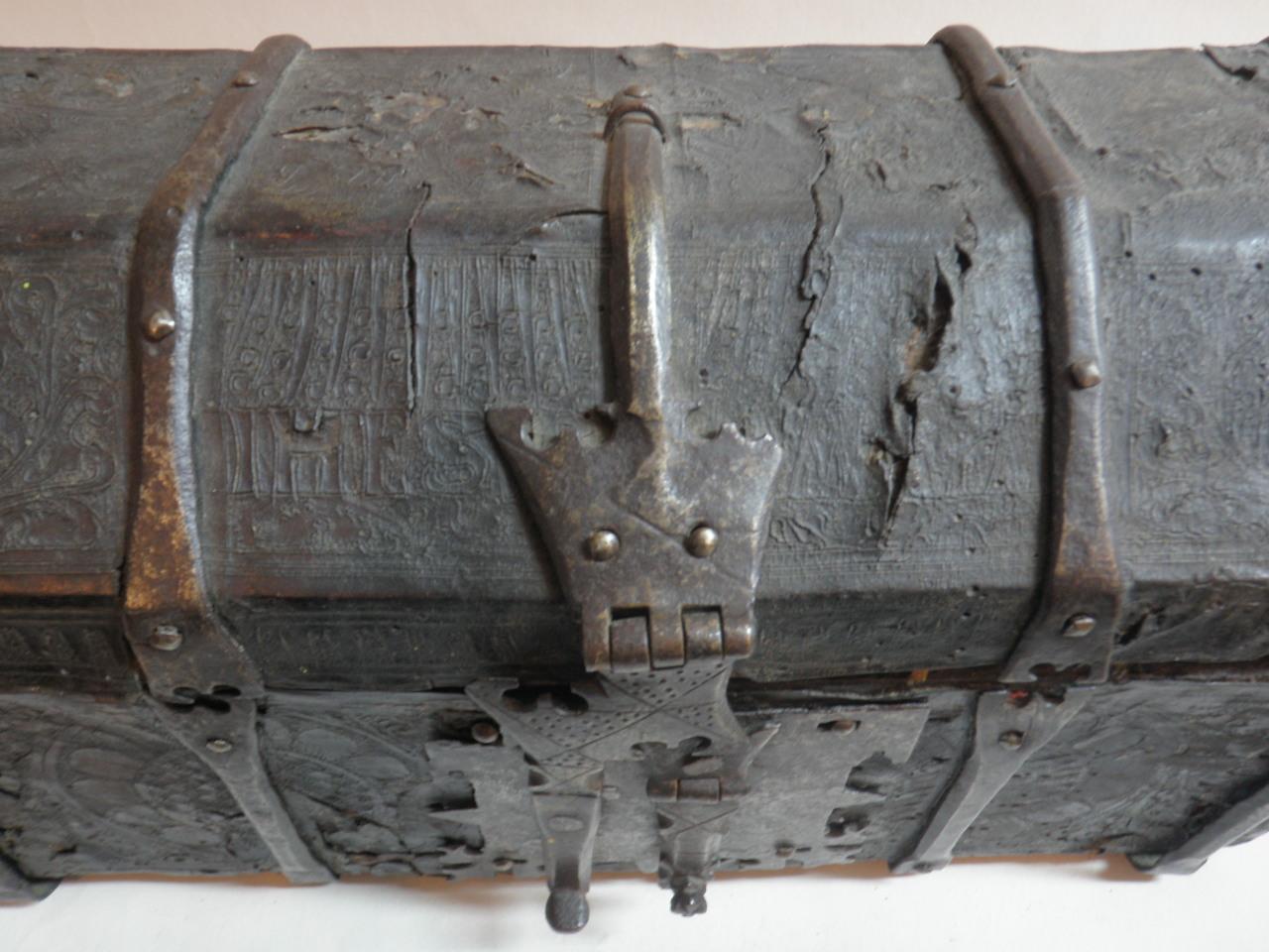 German Renaissance leather chest