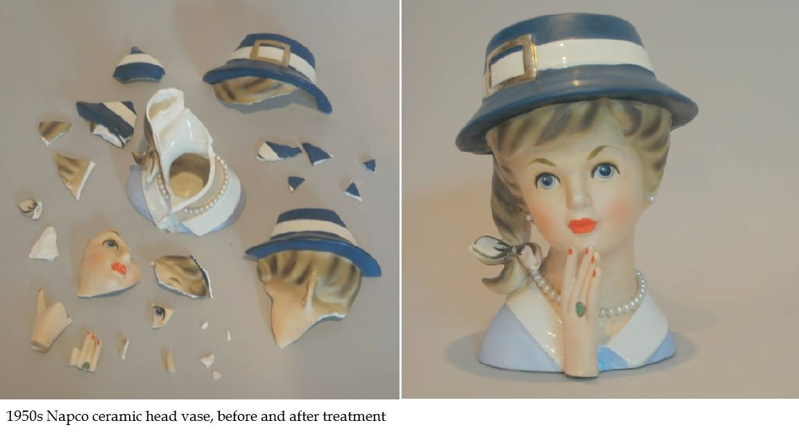 1950s Napco ceramic head vase
