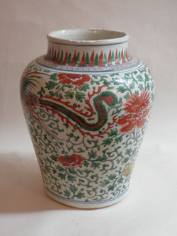 Large Chinese vase after repair
