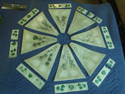 Faded glass lampshade panels