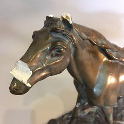 Modern horse sculpture