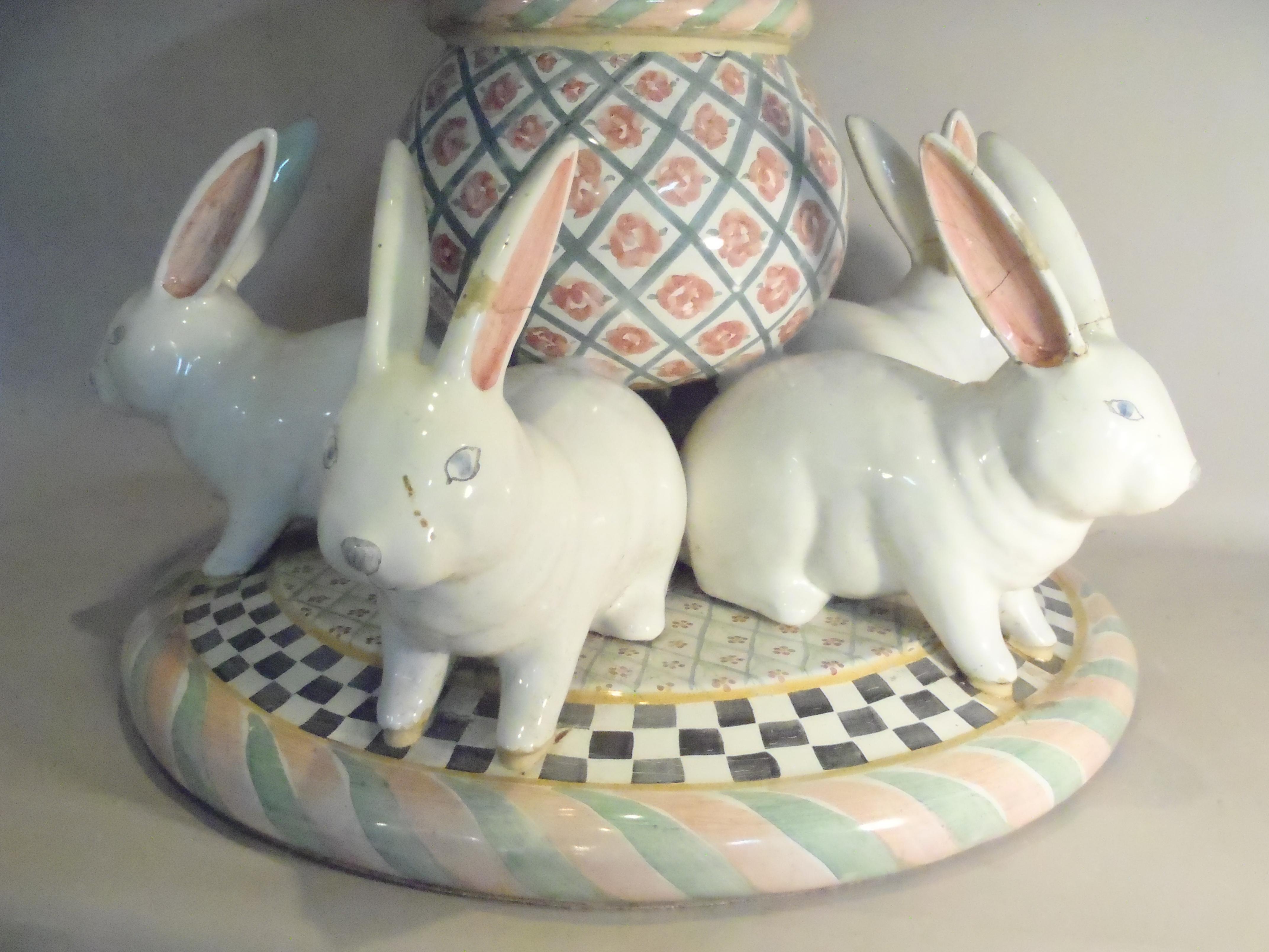 MacKenzie-Childs rabbit table base