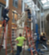 Kasia Maroney Klarman Hall Nike plater sculpture restoration installation conservation services