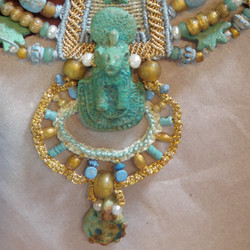 Faience necklace after treatment