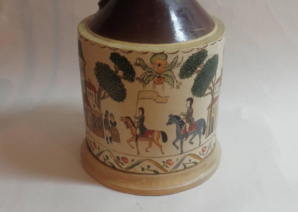 Folk Art jug lamp