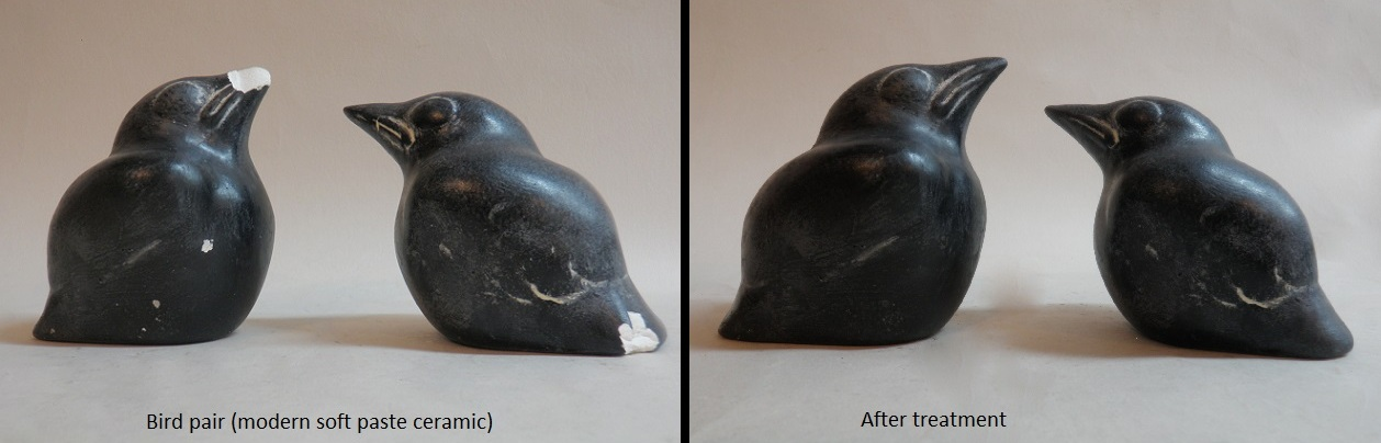 Modern ceramic bird pair