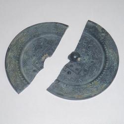 Han Dynasty white bronze mirror