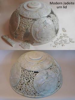 Jadeite urn lid