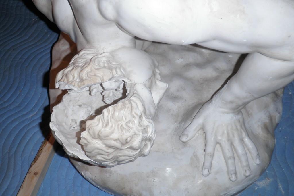 Plaster cast of Uffizi Wrestlers