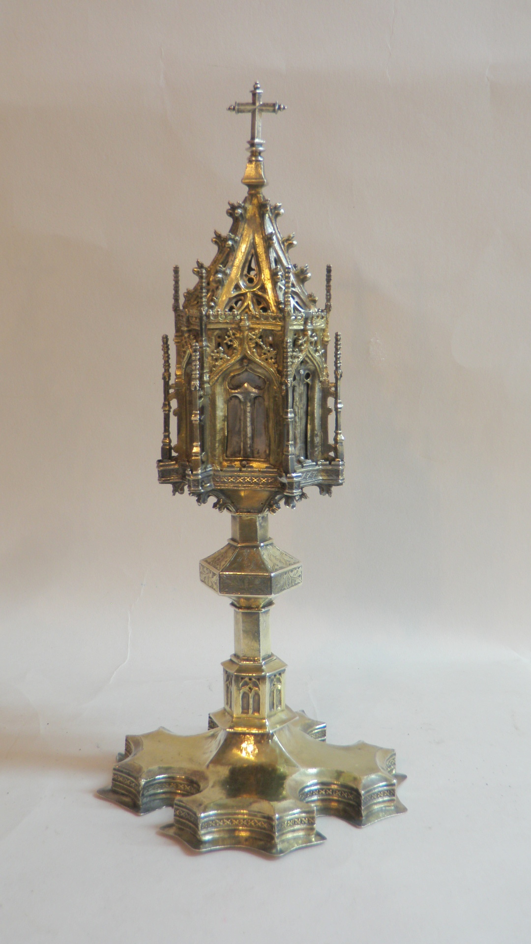 Medieval Spanish brass monstrance