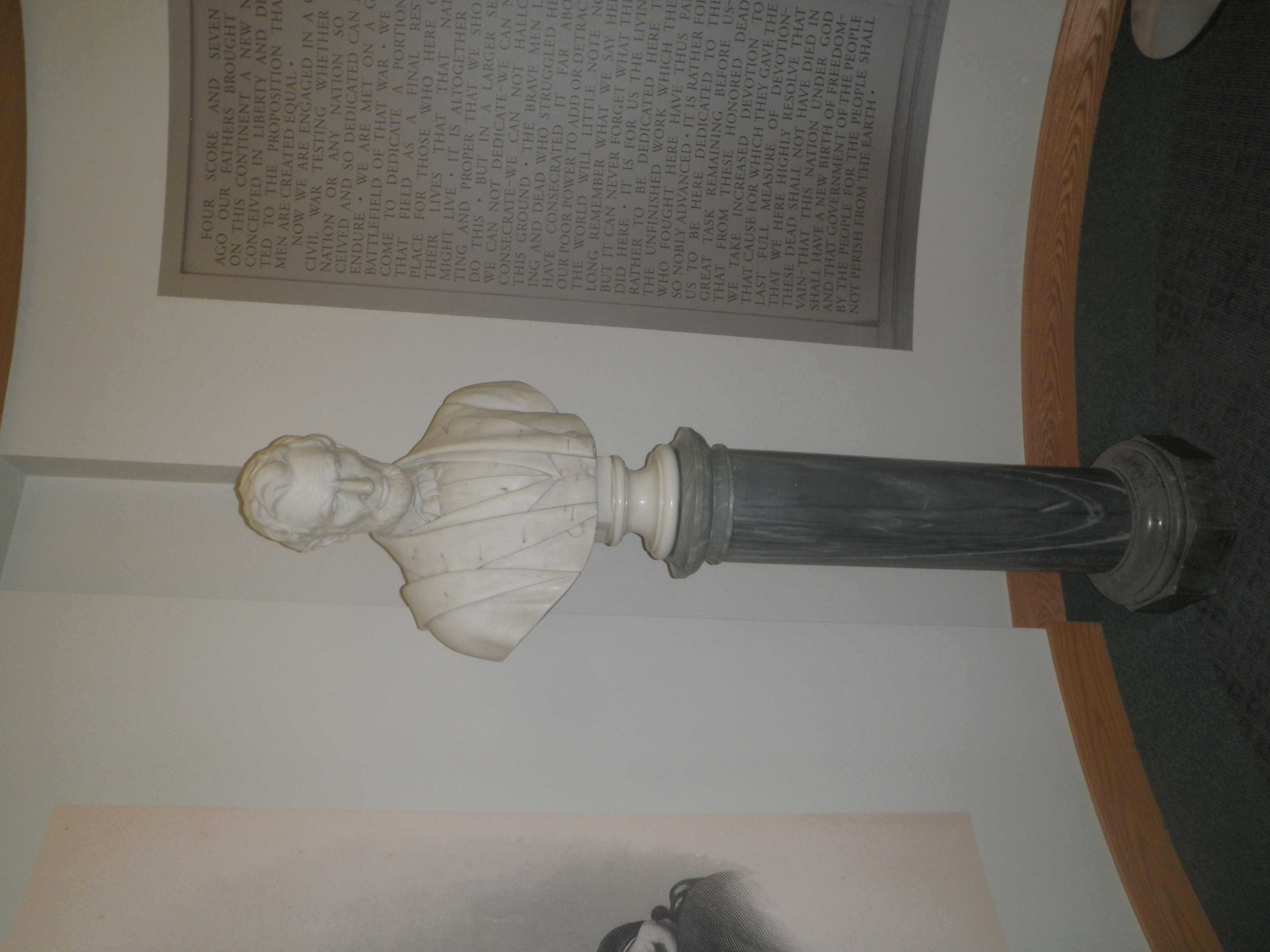 Marble bust of Abraham Lincoln