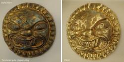 Pre Columbian Sun God medallion