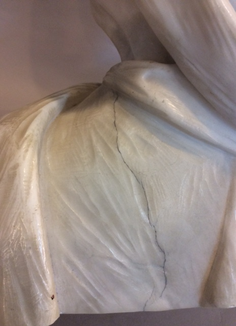 Marble bust of a veiled lady