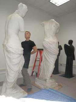 Plaster casts of classical Venuses
