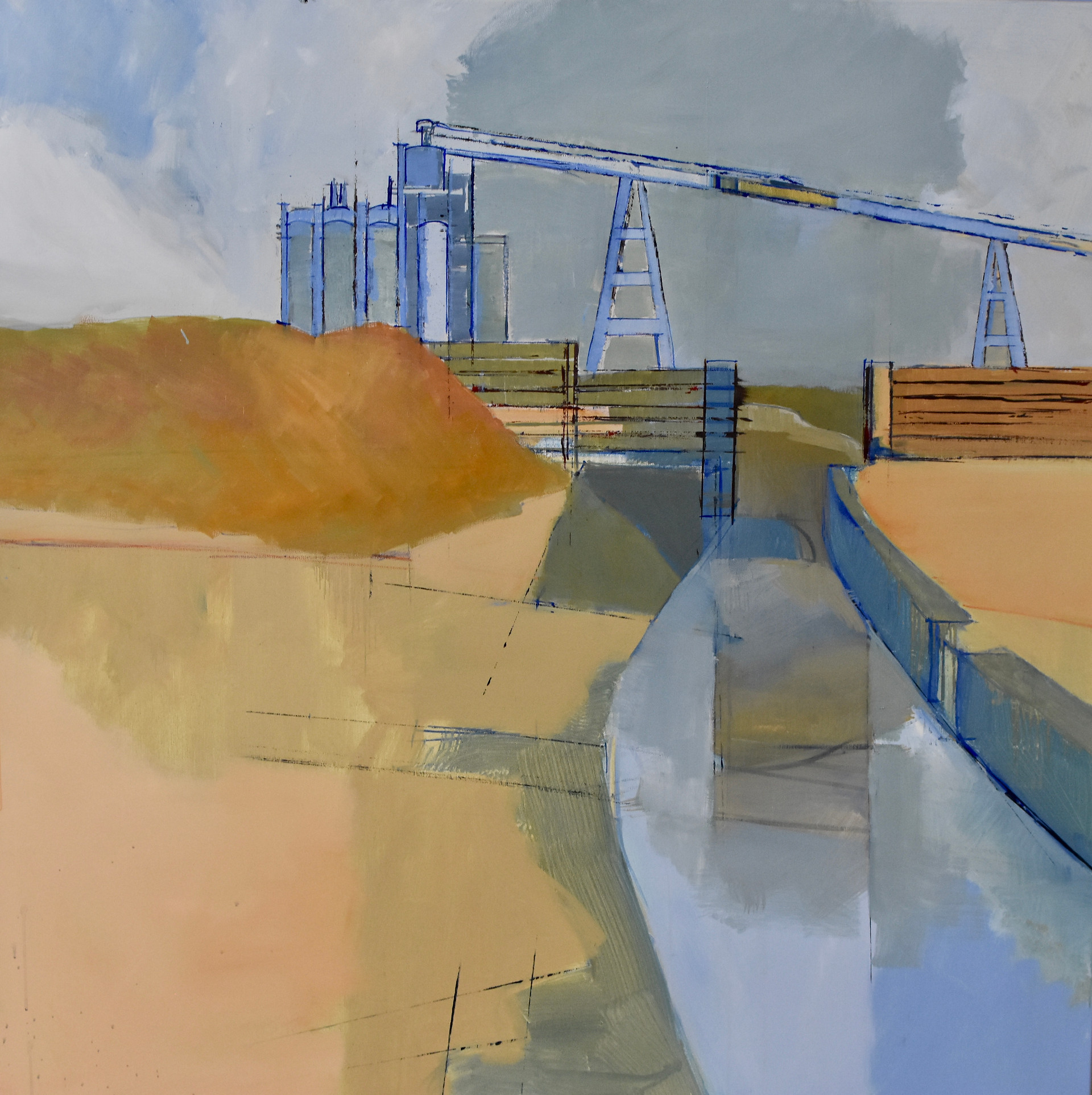 Cement works yard | Oil on canvas | 2018