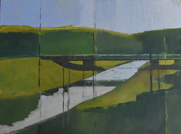Bridge at Alfriston   Oil on canvas   2018