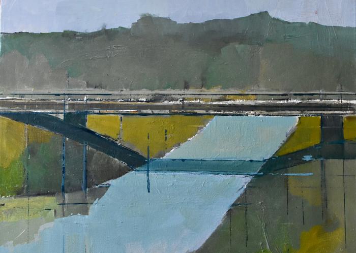 The White Bridge   Oil on canvas   2019