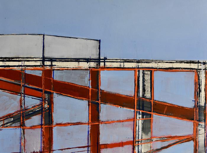 Riverside building Thames   Oil on canvas