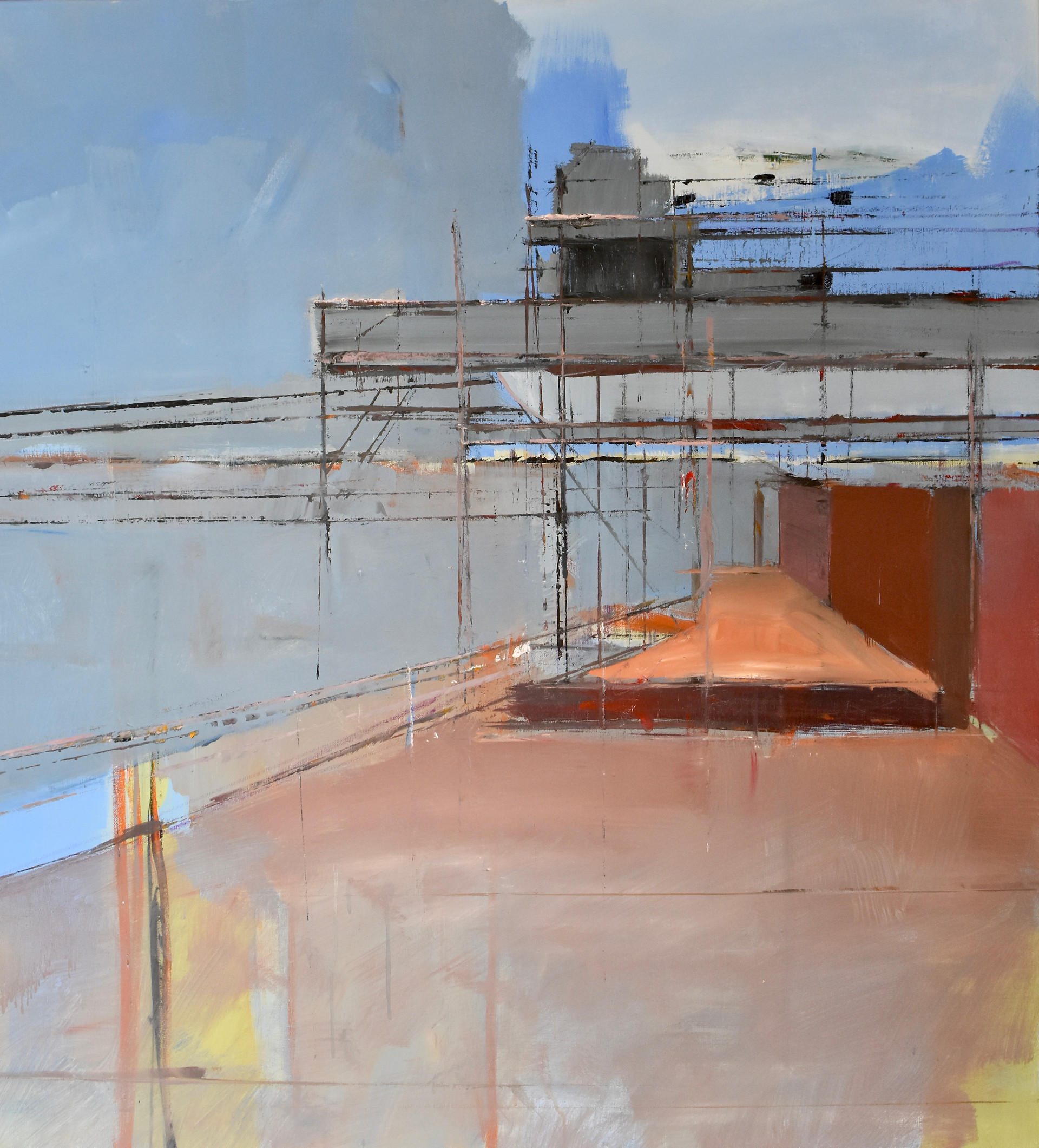 Cement Works Structure | Oil on canvas
