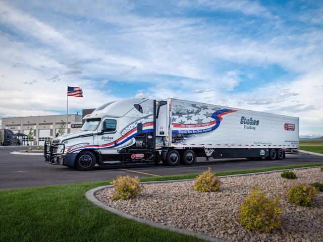 Patriotic Truck & Trailer