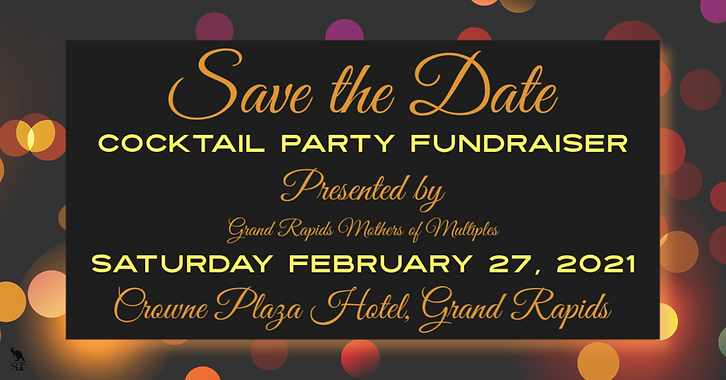 Save The Date Cocktail Party Fundraiser
