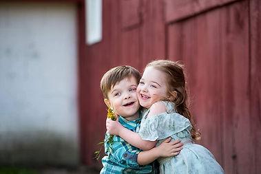 Boy girl twin toddlers