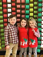 siblings at Christmas party