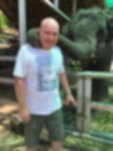 Darren Cottom with elephant