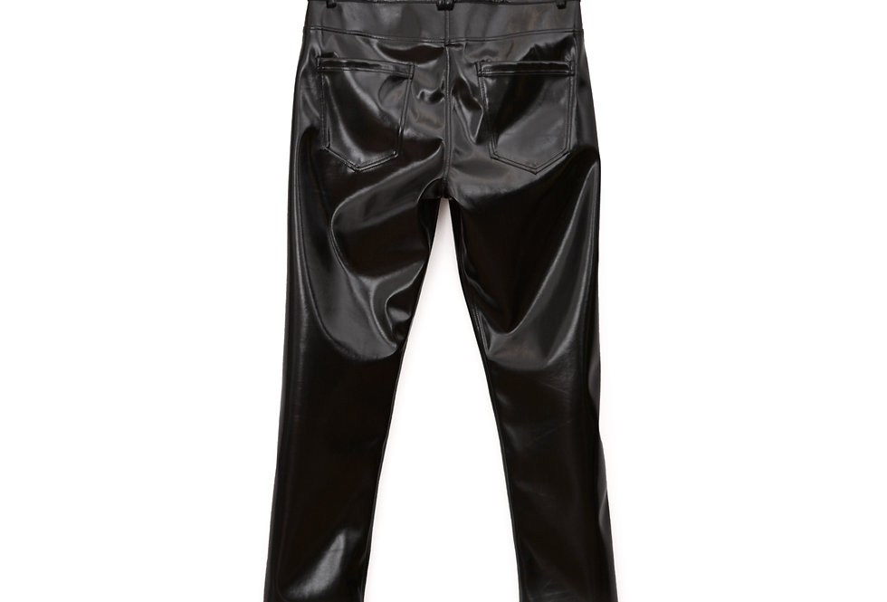 Patent Cropped Pants