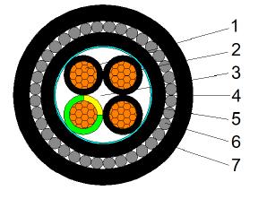 CU/XLPE/LSZH/SWA/LSZH 0.6/1KV 3X1.5+E1.5
