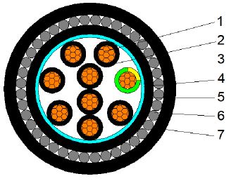 CU/XLPE/LSZH/SWA/LSZH 0.6/1KV 2X10+