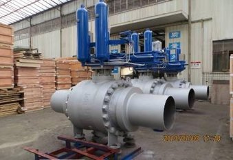 BALL VALVE WITH ACTUATOR AND SPECIAL ENDS