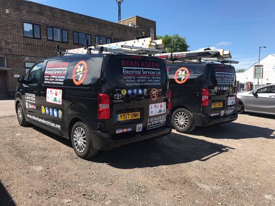 Vans at work
