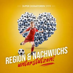 Super Donatoren 1111 – Möchten auch Sie die Region und den Nachwuchs unterstützen und netzwerken?